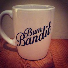 Hand Decorated 'Bum Bandit' Mug by Holyflaps on Etsy