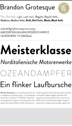 Brandon Grotesque, by HvD fonts.  Geometry of Futura, with letter press warmth and early 1920-30s idiosyncrasies.