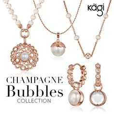 KAGI Jewellery are celebrating 10 Years with their new Collection CHAMPAGNE BUBBLES!