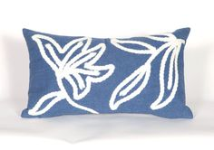 Trans-Ocean Imports 7SA1S307603 Visions I Collection Blue Finish Pillow
