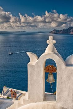 Bell Tower in Santorini, Greece Destination wedding in Greece? Beautiful Places In The World, Places Around The World, Around The Worlds, Santorini Island, Santorini Greece, Crete Greece, Athens Greece, Places To Travel, Places To Visit
