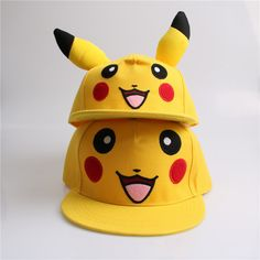 Pokemon GO  Pikachu Flat Snapback Caps Hat for  Men Women //Price: $11.04 & FREE Shipping //     #follow