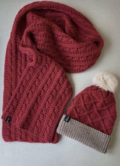 This Wool Scarf and Hat with Pom Set is made with love from 100% wool. It is perfect Gift for Beloved people. * Natural wool yarn * 100% handmade * Soft and gentle * Made in non-smoke home * One size fitted for adults /if you need smth special, contact us/ More SETS: