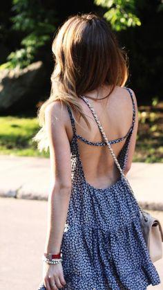 #summer #fashion / flower print dress