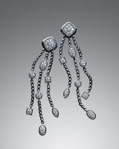 Pave Diamond Confetti Tassel  Earrings by David Yurman at Neiman Marcus.