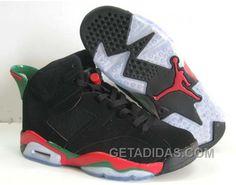 http://www.getadidas.com/air-jordan-6-black-green-red-2009-new-offres-de-nol.html AIR JORDAN 6 BLACK GREEN RED 2009 NEW OFFRES DE NOËL Only $65.00 , Free Shipping!