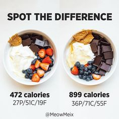 Healthy Recipes What do you think the differences are? First off, let me just say this combo is ridiculously good - Health and Nutrition Healthy Meal Prep, Healthy Breakfast Recipes, Healthy Snacks, Healthy Recipes, Healthy Yogurt, Keto Meal, Healthy Weight, Keto Recipes, Weight Gain Meals