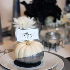 I love painting pumpkins and have developed a recent addition to glitter paint. You had to know where this was going. Armed with a paintbrush and a bottle of Martha Stewart Craft Glitter paint in Sterling, I went to town on a few small, white gourds from the local farmer's market. Using the...