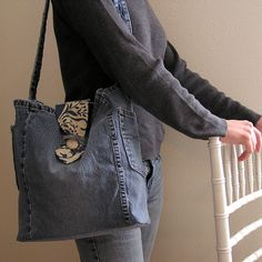 Upcycled Denim Purse Satchel