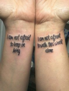 My mom's wonderful birthday present. Lyrics from Famous Last Words by My Chemical Romance. ^mom's birthday present and this tattoo. Emo Tattoos, Fandom Tattoos, Bild Tattoos, Body Art Tattoos, Small Tattoos, Tatoos, Piercing Tattoo, I Tattoo, Tattoo Quotes