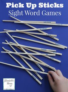 Chopstick literacy Pick Up Sticks Sight Word Games Sight Word Spelling, Sight Word Practice, Sight Word Games, Sight Word Activities, Reading Activities, Teaching Reading, Fun Learning, Early Learning, Reading Games