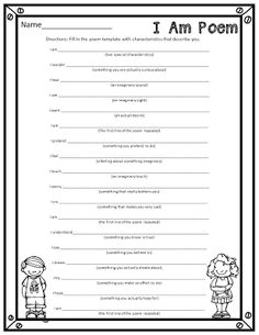 I Am Poems {A fun end of the year activity}