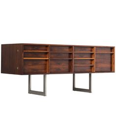 Bodil Kjaer Freestanding Rosewood Sideboard | From a unique collection of antique and modern credenzas at https://www.1stdibs.com/furniture/storage-case-pieces/credenzas/