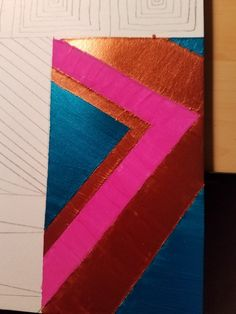 Acrylic painted Aztec Art project  in the works