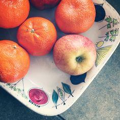 Retro, Rörstrand, Picknick, apples