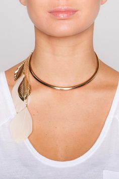 Lucille feather chocker #necklace #jewelry $19