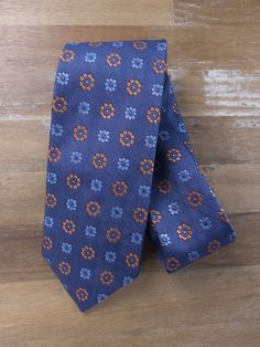 auth DRAKE'S Drakes of London blue floral silk tie - NWOT in Clothing, Shoes & Accessories, Men's Accessories, Ties | eBay