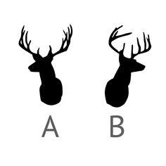 Heart Antler Deer Head Silhouette — Crafthubs
