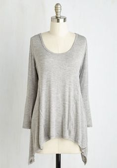 Laid-back to Back Top in Fog. Busy schedule? #grey #modcloth