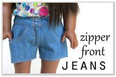 Zipper-Front Jeans | Pixie Faire