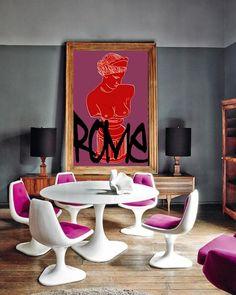 Eclectic Dining Room – Home Decor İdeas Modern Pink Dining Rooms, Dining Room Chairs, Dining Tables, Estilo Hollywood Regency, Casa Pop, Interior Inspiration, Design Inspiration, Furniture Inspiration, Deco Rose