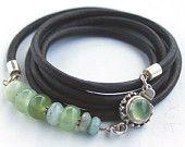 Green gemstone bracelet jade, jasper, moss aquamarine beaded bracelet with green amethyst clasp