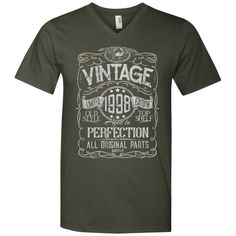 Vintage Aged To Perfection 1998 - 20th Birthday Gift T-shirt