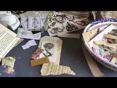 Craft with me   making tags, pockets, envelopes and ephemera   using old book pages   part 2 - YouTube