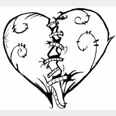 arrt broken broken heart emo hand drawing heart inspiring