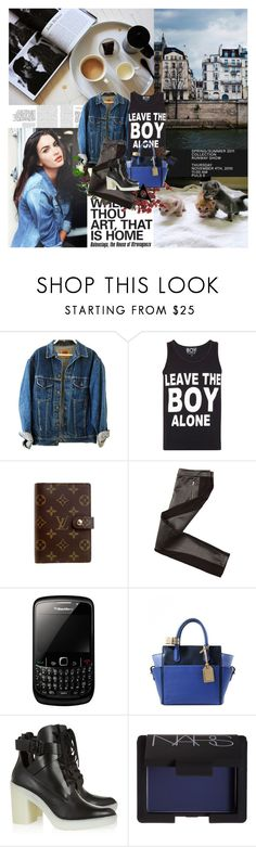 """463. Leave the boy alone"" by dreamingofamelia ❤ liked on Polyvore featuring BOY London, Louis Vuitton, Armani Exchange, Reed Krakoff, Alexander Wang, Jean-Paul Gaultier and NARS Cosmetics"