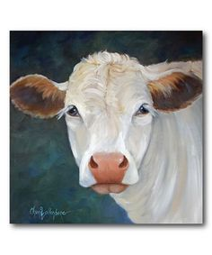 Courtside Market White Cow x Gallery-Wrapped Canvas Wall Art Cow Paintings On Canvas, Farm Paintings, Cow Canvas, Animal Paintings, Canvas Wall Art, Gado, Farm Art, Cow Art, Cow Wall Art