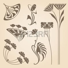 art nouveau bloemen - Google zoeken