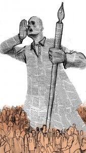'Periodismo comprometido', de Martin Tognola (http://www.martintognola.com). Enlace en 'La Columnata': http://lacolumnata.es/politica/el-curioso-impertinente-politica/periodismo-una-casa-de-putas#.
