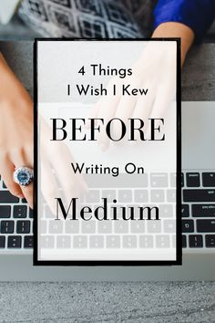 Writing on Medium is the easy part, making money on Medium is where it starts to get more tricky. I wish I took the time to learn more about these 4 things before trying to write on Medium and make money writing. #Medium #makemoneywriting Content Marketing Strategy, Social Media Marketing, Make Money Writing, How To Make Money, I Wish I Knew, Influencer Marketing, Digital Nomad, What You Can Do, Online Jobs