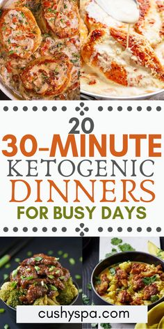 20 Ketogenic Dinners for Busy Days These ketogenic dinners are great if you want to lose weight and stay on the low carb diet. These quick keto dinners can be made in under 30 minutes. Keto Tips Ketosis Diet, Ketogenic Diet Meal Plan, Ketogenic Diet For Beginners, Diet Plan Menu, Keto Meal Plan, Diet Meal Plans, Ketogenic Recipes, Diet Recipes, Healthy Recipes