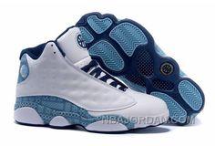23784d75eda30e Men nike Air Jordan (XIII) Retro White Navy Shoes Jordans
