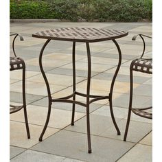 @Overstock.com - Santa Fe Nailhead Bar-Height Bistro Table - Add a touch of elegance and comfort to your outdoor patio furnishings with the Santa Fe Nailhead Bar Bistro Table, featuring a nailhead design and a powdercoated steel finish. This table brings a tinge of the Southwest to your patio.  http://www.overstock.com/Home-Garden/Santa-Fe-Nailhead-Bar-Height-Bistro-Table/8366448/product.html?CID=214117 $159.99