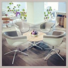 #neocon2013 great chairs, love the color of gray with the blonde wood #loewenstein, #boylegroup