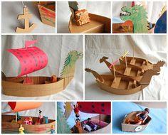 mosaico barcos carton1 Había una vez un barquito....