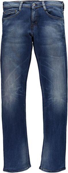 Schmal geschnittene 5-Pocket-Jeans mit niedriger Leibhöhe und geradem Beinverlauf, aufgesetzte Gesäßtaschen, Reißverschluss. Diese Jeans hat einen hohen Tragekomfort und schöne Used-Effekte. 91 % Baumwolle, 7 % Polyester, 2 % Elasthan....