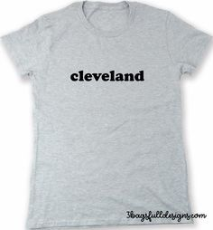 cleveland city pride t shirt