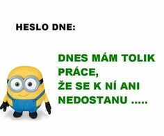 heslo dne: dnes mám tolik práce, že se k ní ani nedostanu. Weird Words, Bad Mood, Best Memes, Funny Texts, Slogan, Funny Animals, Haha, Funny Pictures, Funny Quotes