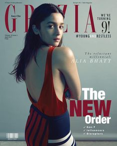 Alia Bhatt looks absolutely stunning as she appears on the Cover Page of Grazia India magazine April 2017 issue. A post shared by Alia ✨⭐️ ( Grazia Magazine, Vogue Magazine Covers, Sonali Raut, Alia Bhatt Photoshoot, Alia Bhatt Cute, Alia And Varun, Fashion Cover, Women's Fashion, Cute Woman