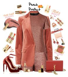 """""""Just Peachy"""" by ellenfischerbeauty ❤ liked on Polyvore featuring beauty, Frame, Chloe Gosselin, Bobbi Brown Cosmetics, Gucci, Ellis Faas, LE VIAN, Yves Saint Laurent, Tom Ford and Too Faced Cosmetics"""