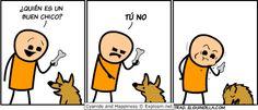 Tirarle el hueso al perro A otro perro con ese hueso.