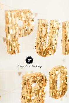 DIY Glitter fringe letters || フリンジのアルファベットデコレーション