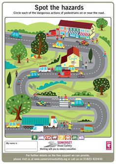 Key Stage 1 and 2 Activity Sheets | Somerset Road Safety