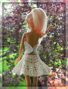 "E-Book Häkelanleitung Barbie Kleid ""Mandala in weis"""