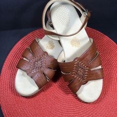 SAS Sandals Tripad Comfort Womens 11 M Leather Flats Brown USA #SAS #AnkleStrap #Casual
