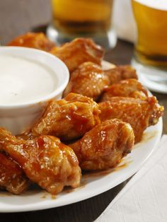 Low Sodium Buffalo Wings and Ranch Dipping Sauce // Card Made
